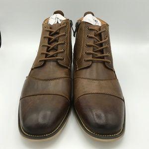 Steve Madden Jabbar Dark Tan Shoes Size 9